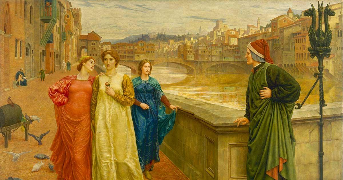 Dante Alighieri e Beatrice
