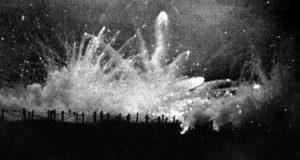 A proposito della poesia Veglia di Ungaretti: fuoco di sbarramento notturno tedesco durante la seconda battaglia di Ypres.