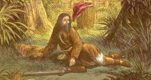 Un'illustrazione di Alexander Frank Lydon del 1865 per il Robinson Crusoe