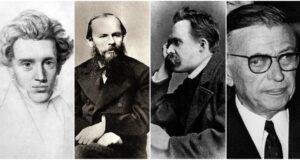 Quattro esponenti dell'esistenzialismo: Kierkegaard, Dostoevskij, Nietzsche, Sartre