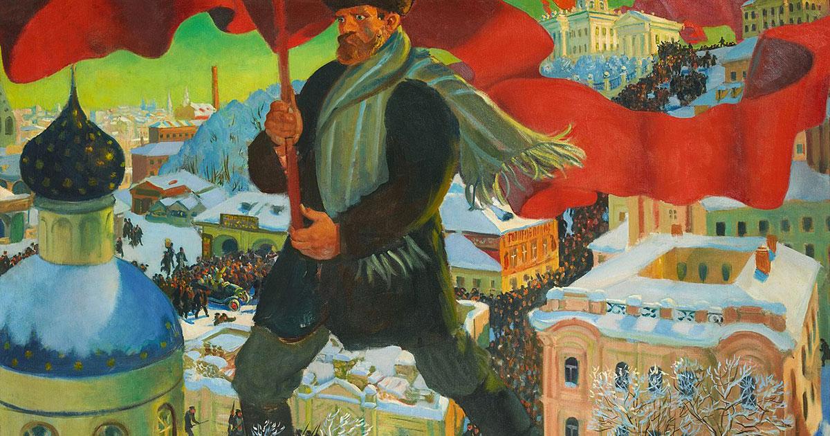 Il Bolscevico, dipinto di Boris Kustodiev (1920, Galleria Tret'jakov)