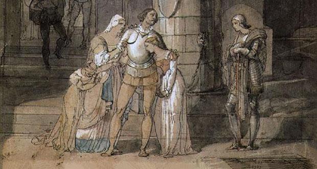 Studio di Francesco Hayez per il dipinto Il Conte di Carmagnola (1820)