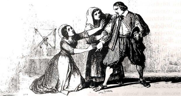 Una scena del settimo capitolo de I promessi sposi
