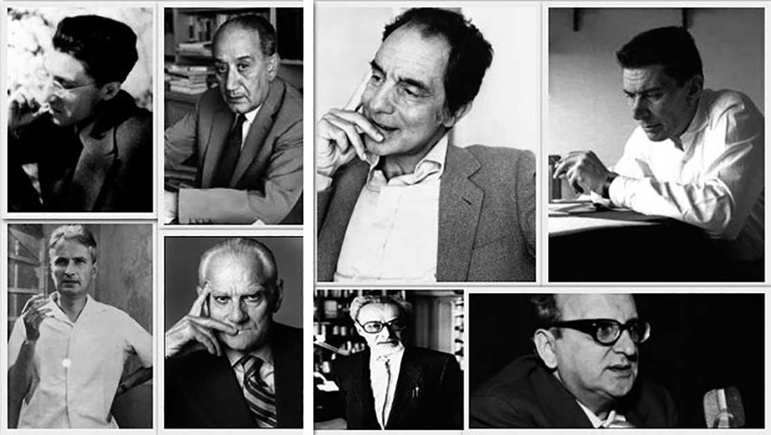 Esponenti del neorealismo letterario: Cesare Pavese, Ignazio Silone, Italo Calvino, Beppe Fenoglio, Carlo Cassola, Alberto Moravia, Primo Levi, Vasco Pratolini.