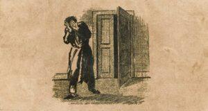 Particolare della copertina della prima edizione de Le metamorfosi di Kafka con un'illustrazione di Ottomar Starke
